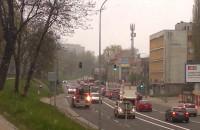 Spory korek na trakcie św Wojciech, ...