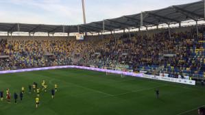 Kibice Arki do piłkarzy po przegranej z Wisłą Płock