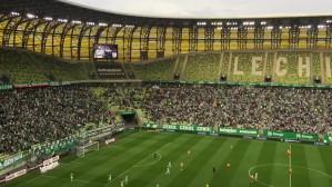 Kibice Lechii cieszą się z trzeciego gola