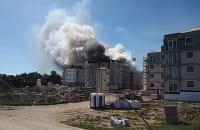 Pożar bloku - Wiczlino Hossa