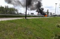 Pożar samochodu na Słowackiego przy ...