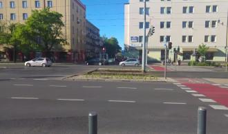 Pomoc udzielana rowerzyście, który uległ wypadkowi