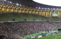 Radość kibiców Lechii po 18. golu Marco Paixao