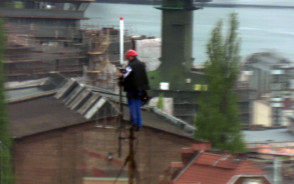 Instalacja anteny na maszcie
