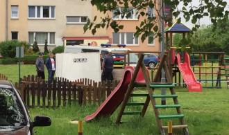 Zwloki na placu zabaw na Witominie. ...