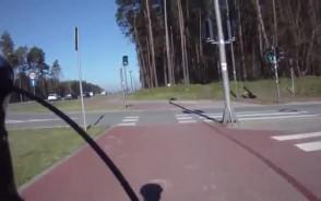 Wymuszenie pierwszeństwa na rowerzyście