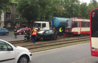 Skutki wypadku na alei Hallera