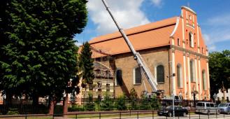Remont przy kościele św. Ignacego Lyoli