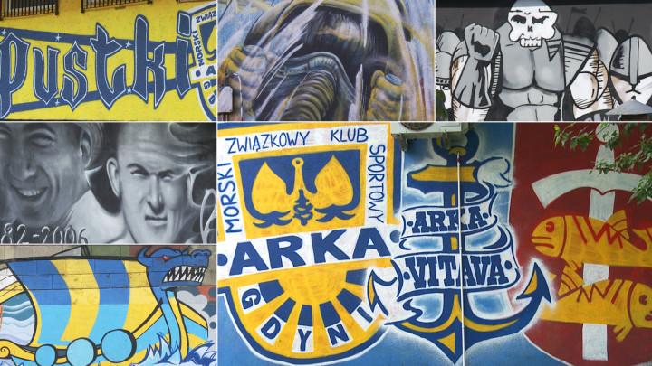 Zobacz murale autorstwa kibiców Arki Gdynia
