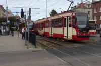 Korek tramwajowy po wypadku na Siedlcach
