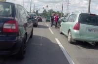 Stłuczka na skrzyżowaniu Janka Wiśniewskiego i Polskiej