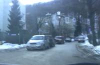 Objazd zakorkowanej ul. Morskiej w Gdyni.