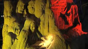 Świąteczna szopka u Franciszkanów