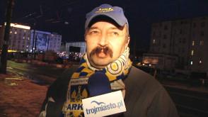 Protest kibiców Arki Gdynia przeciwko decyzji PZPN