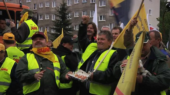 Tak protestowali pracownicy Energi w2010 roku.
