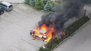 Pożar samochodu na Witominie