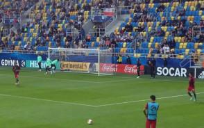 Rozgrzewka Portugalii przed meczem