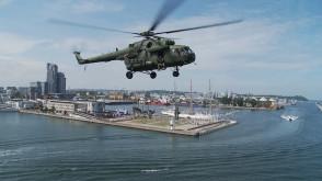 Śmigłowce dały pokaz nad Gdynią