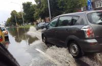 Al. Zwycięstwa w Gdańsku zalana