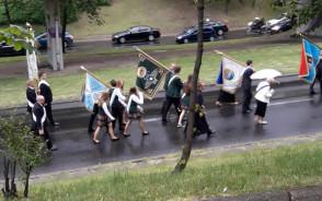 Korek w Gdyni związany z procesją ul. Morską