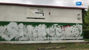 Ktoś zamazał murale Lechii Gdańsk
