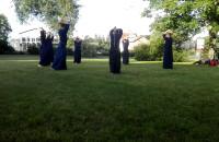 Trening kendo w parku Piłsudskiego