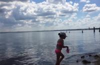 Wąska plaża w Orłowie