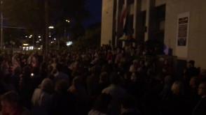 Protest przed sądem w Gdyni