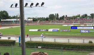 Wyścig 8. meczu żużlowców Wybrzeże Gdańsk - Orzeł Łódź