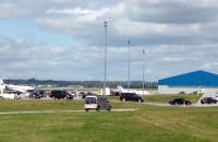 Samolot książęcej pary wylądował w Gdańsku