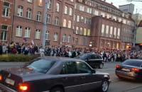 Tłumy pod sądem w Gdańsku protestują
