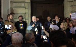 Protest przed Sądem - Lech Wałęsa