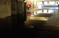 Tunel SKM Wzgórze zalany