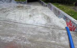 Przepompowywana woda ze zbiornika Srebrniki