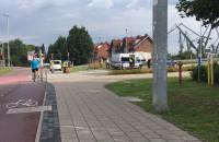 Kolizja roweru z samochodem przy Bramie Oliwskiej