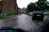 Rzeka na ul. Podmiejskiej
