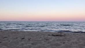 Orłowo przed letnim zachodem słońca