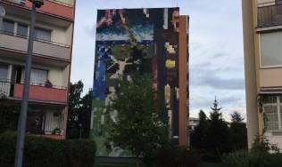 "Mural ""Memling w pikselach"" na Zaspie"