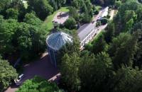 Palmiarnia w Parku Oliwskim z lotu ptaka