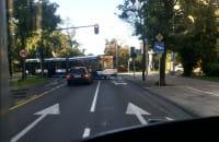Problem z wjazdem na skrzyżowanie w Gdyni