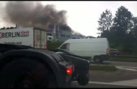 Płonął salon Iveco w Gdańsku