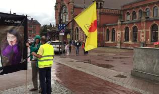 Pikieta obrońców życia w centrum Gdańska