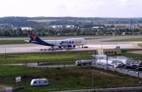 Jumbojet na lotnisku w Gdańsku