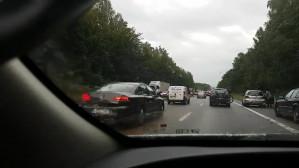 Obwodnica - zderzenie trzech aut przed zjazdem na Słowackiego