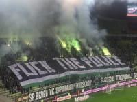 Zielone race w meczu Lechia - Jagiellonia