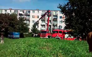 Wypadek na ul. Opolskiej. Kobieta wypadła z okna