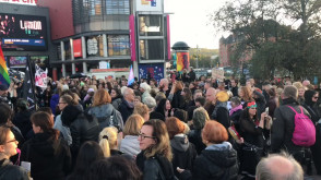 """Manifestacja """"Czarny Wtorek"""" w Gdańsku"""