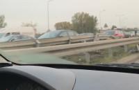 Wypadek za tunelem w stronę Przeróbki