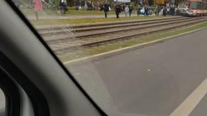 Kolizja samochodu z tramwajem