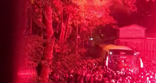 Kibice Lechii w Gdańsku świętują zwycięstwo nad Arką